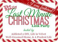 REALLY Last Minute Christmas Link Party - A Prudent Life