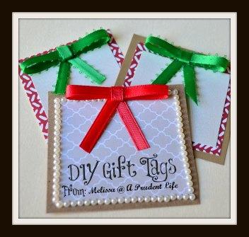 Ribbon Gift Tag Pin