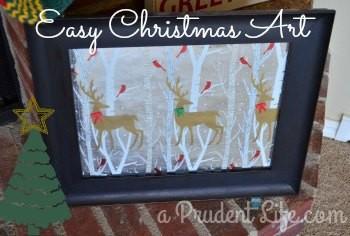 Ugly Art into Christmas Art