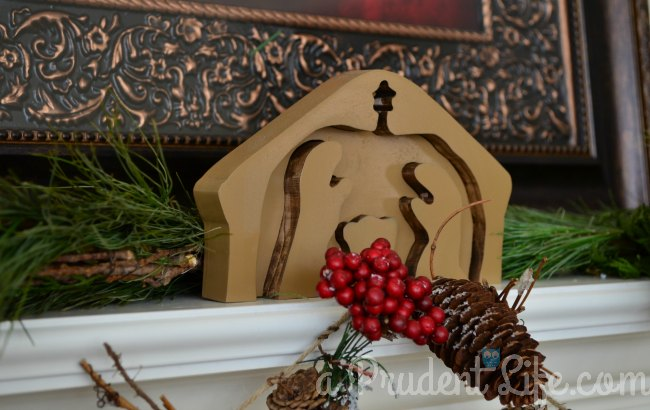 Wood Puzzle Nativity Close Up