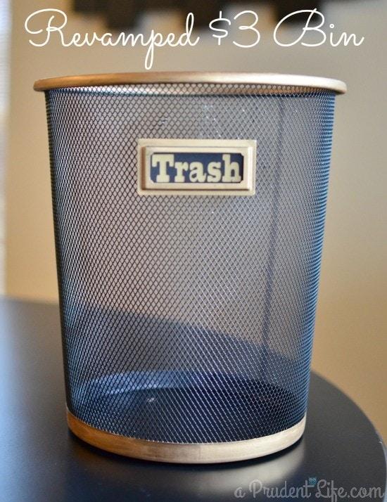 Stylizing a $3 Silver Trash Can