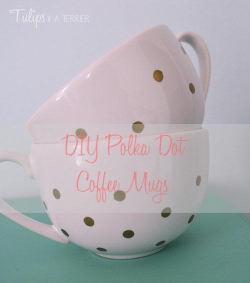 DIY Polka Dot Mug - Tulips & a Terrier