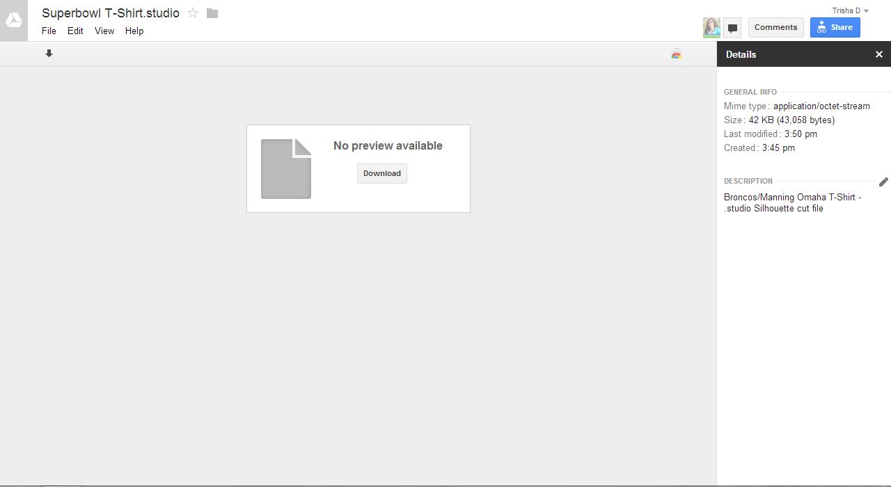 Google Drive Silhouette File