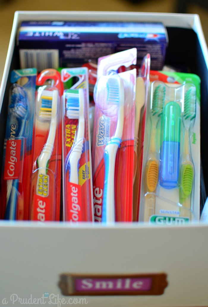 Toothbrush stockpile