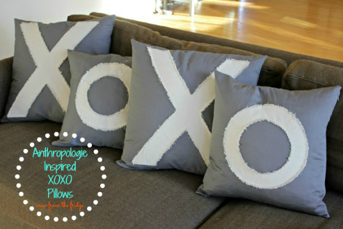 XO pillows View from the Fridge