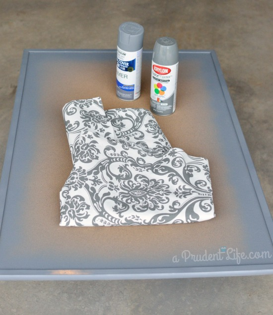 Spray painting cork board