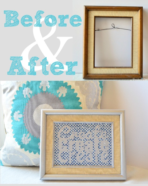 Frame Makeover Before & After