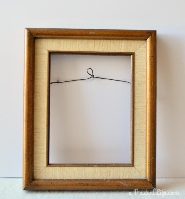 Old frame before refinishing