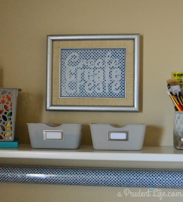 Create} Art & Refinished Frame  Craft Room Project #1  A Prudent  600 x 661