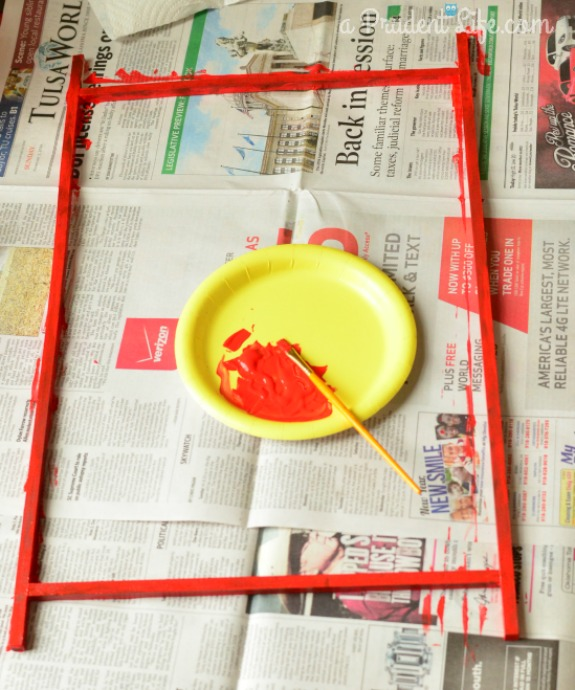 Painting Frame for Valentine Chalkboard