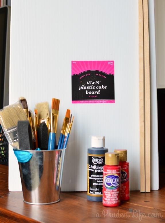 Valentine Chalkboard Supplies