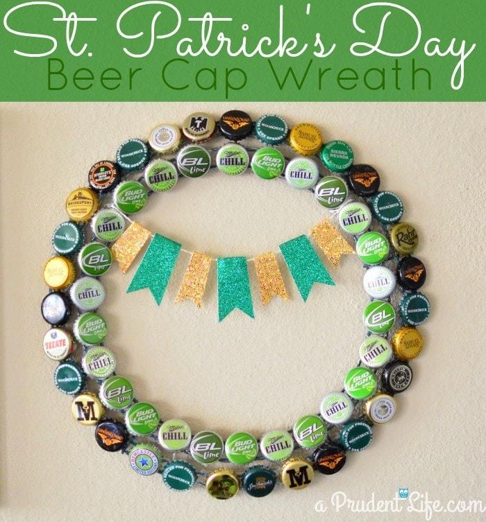 Beer Cap St. Patrick's Day Wreat