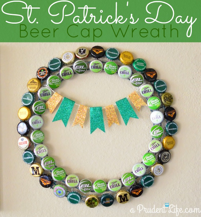 Beer Cap St. Patrick's Day Wreat