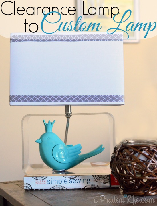 Making a custom lamp from clearance finds.