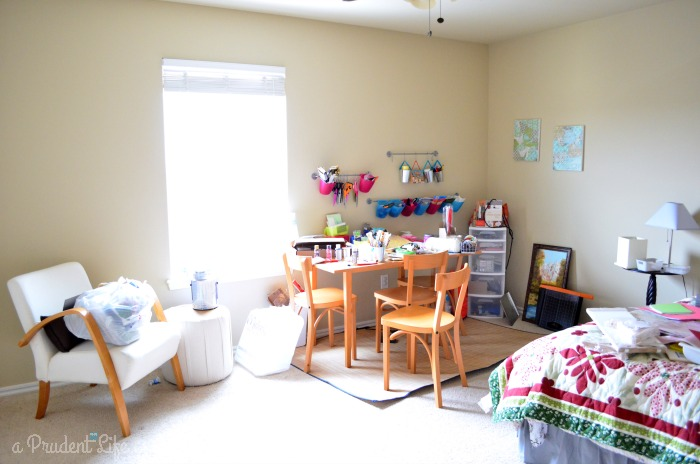 Before: Disaster craft room