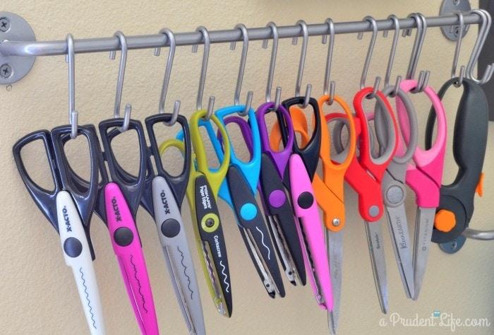 Organized craft scissors