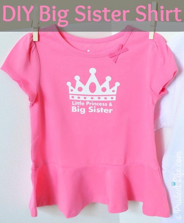 Princess sister shirt with crown