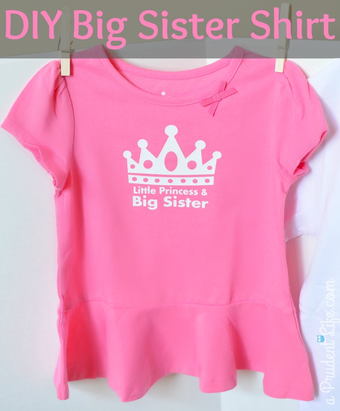 3 Great Swift Y And Thrifty Diy Decorating Ideas: Big Sister Little Princess Shirt