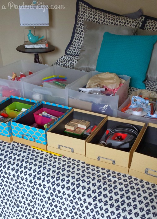 During Craft Room Organization