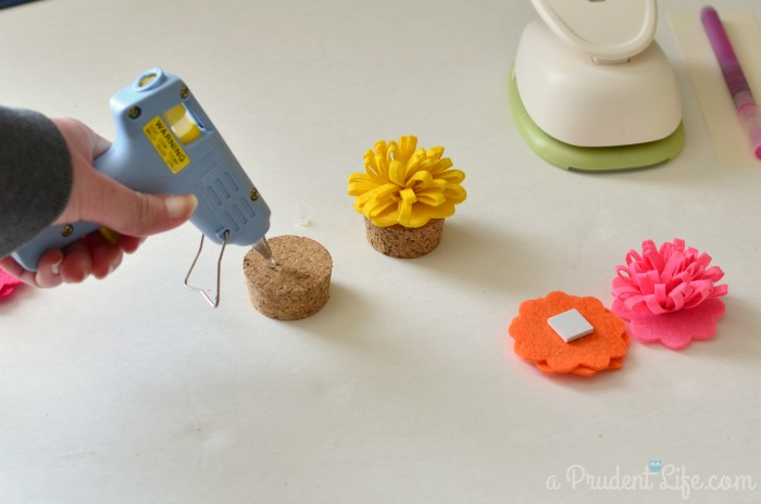 Felt Flowers on Candy Jar