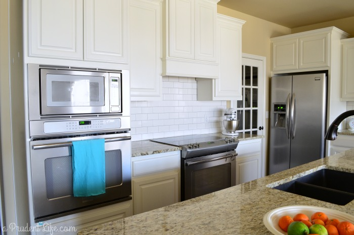 Frigidaire Professional appliances in white kitchen