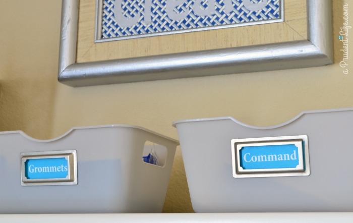 Grommet & Command Strip Storage Craft Area