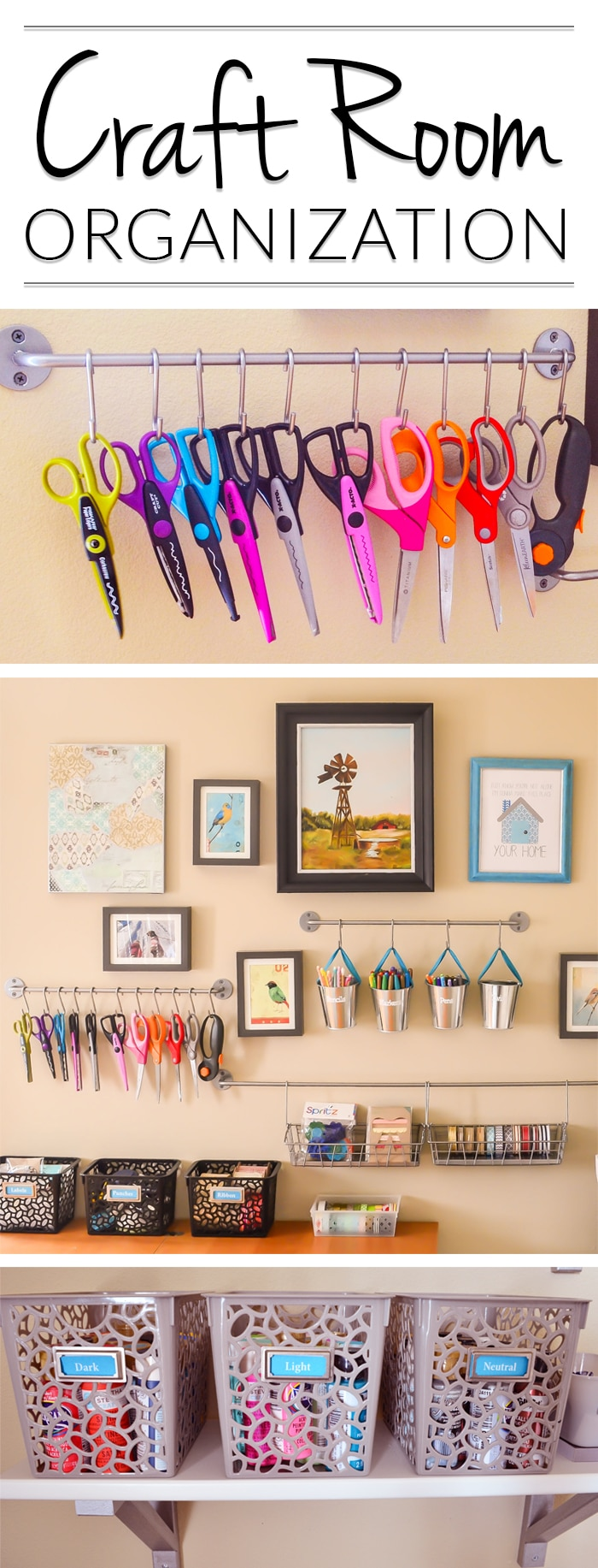 Oh! Craft Room Organizing U0026 Storage Ideas That Would Actually Work In The  Corner Of