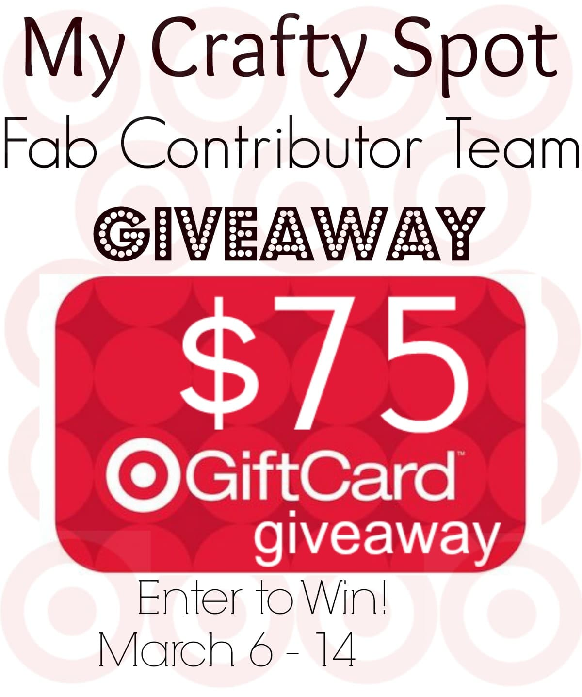 $75 Target Gift Card Giveaway!