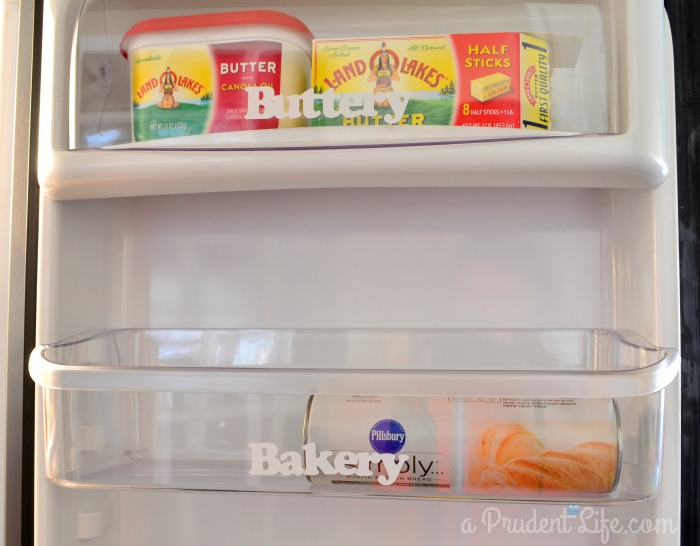 Fridge door organization