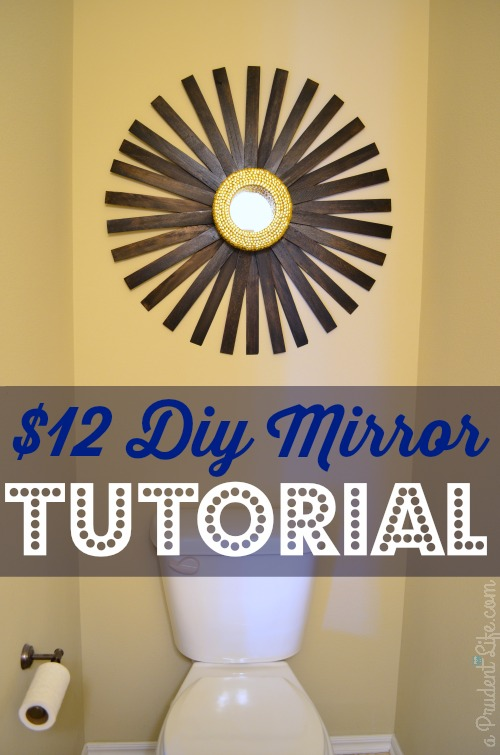 DIY MIrror Sunburst Pinnable Image
