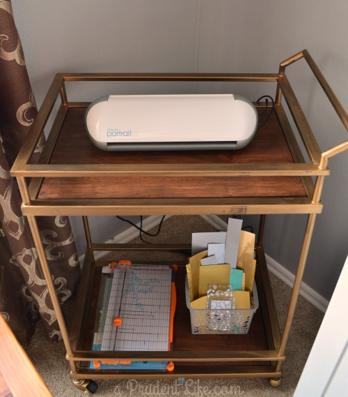 Silhouette Portrait Bar Cart