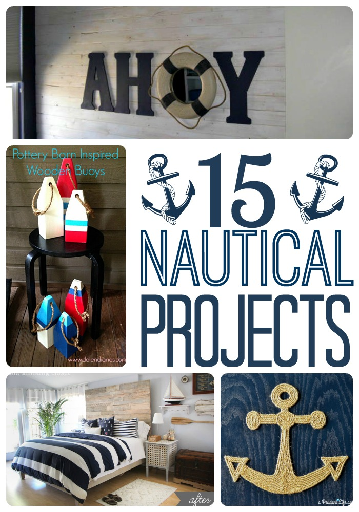 diy nautical decor roundup a prudent life