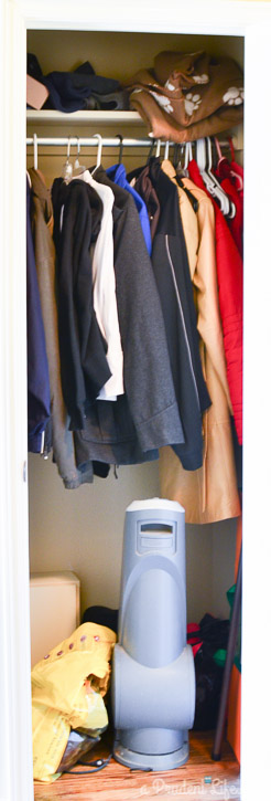 Messy Coat Closet Gets a Fun Makeover