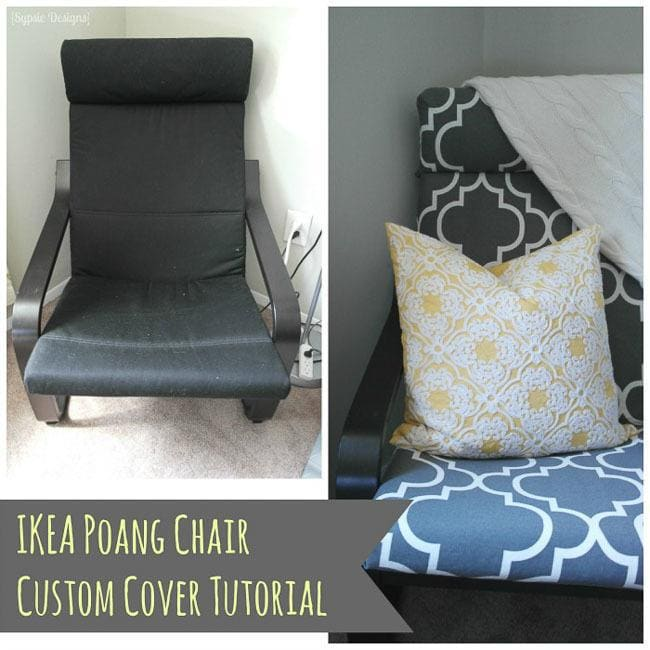 diy ikea poang chair cover polished habitat. Black Bedroom Furniture Sets. Home Design Ideas