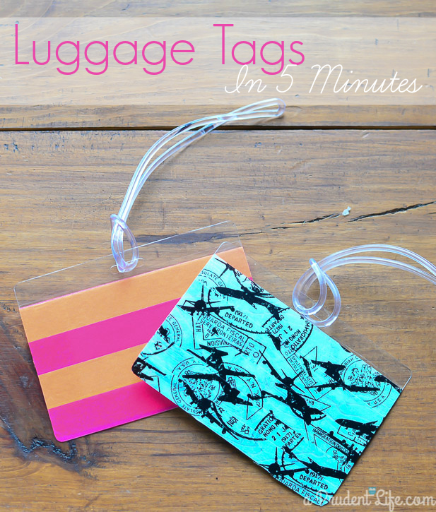 diy luggage tags easy 5 minute gift idea polished habitat