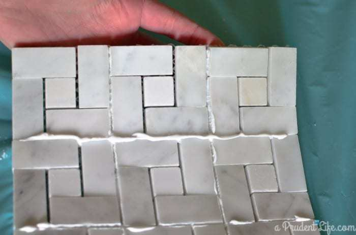 How to make a marble trivet with no messy grout!