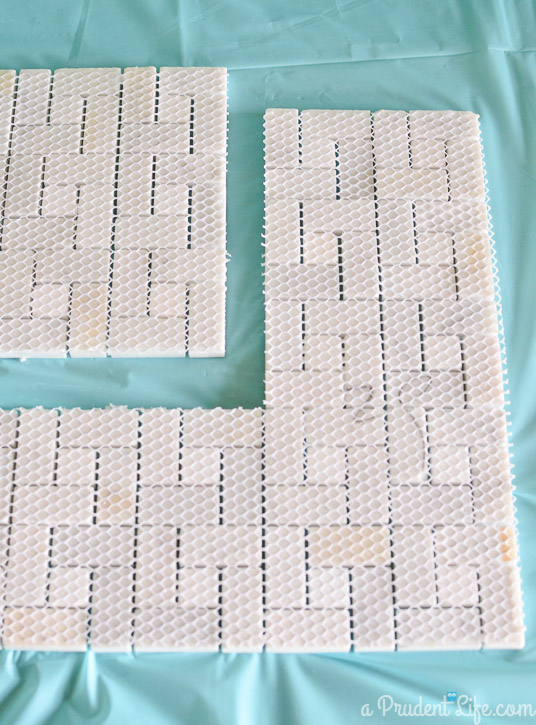 How to make a marble trivet - no special tools or grout needed!