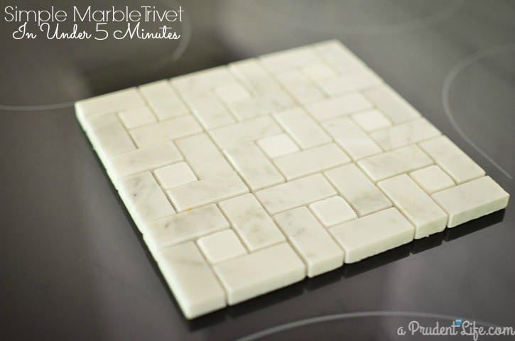 Make this marble trivet in under 5 minutes!