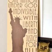 DIY Patriotic Art - Bronze Statue of Liberty + The Pledge!