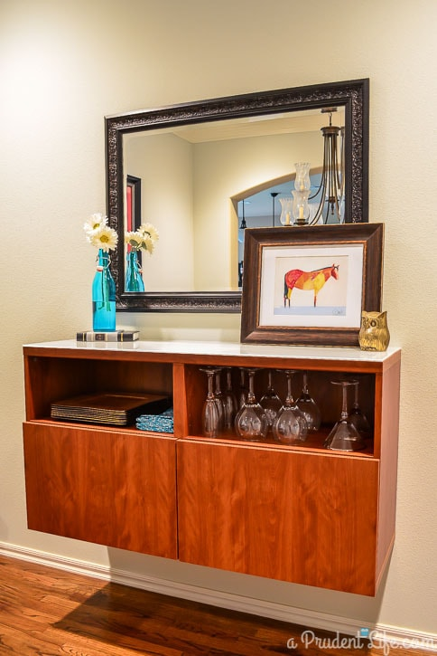 Slightly Modern Dining Room Design with Ikea Besta Cabinet
