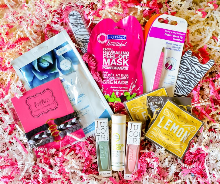 Gather Goodies To Fill a Make Up Bag For a Great Gift
