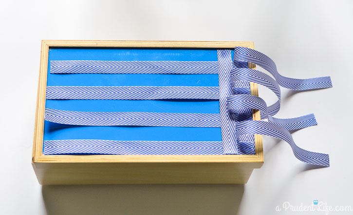 How to add a woven top to a pre-made box.