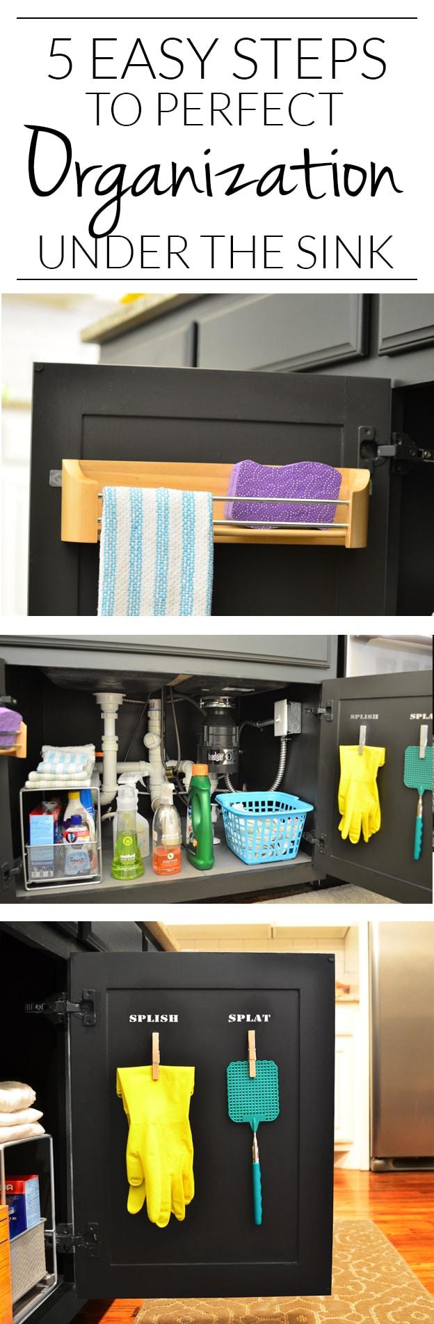 Under Kitchen Sink Cabinet Under kitchen sink organization ideas that add storage 5 simple steps to finally getting the cabinet under the kitchen sink under control i workwithnaturefo