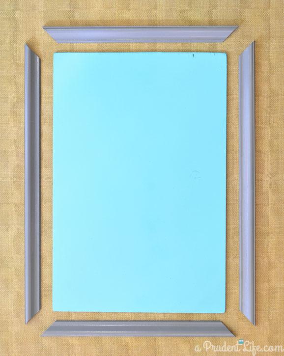 DIY frame for a menu board