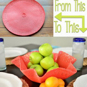 Quick & Easy DIY - Turn a Place Mat into a Decorative Bowl!