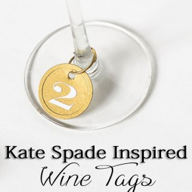 DIY Wine Tags Inspired by Kate Spade - Simple Tutorial!