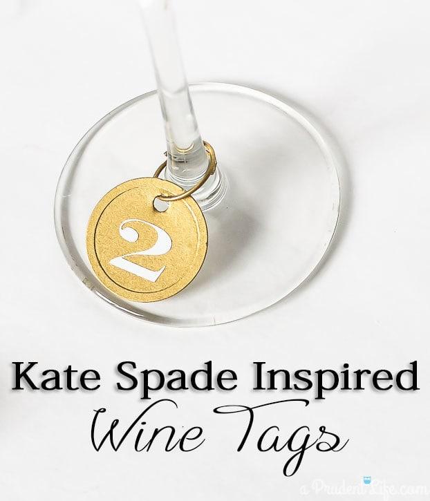 DIY Wine Tags Inspired by Kate Spade - Simple Tutorial!