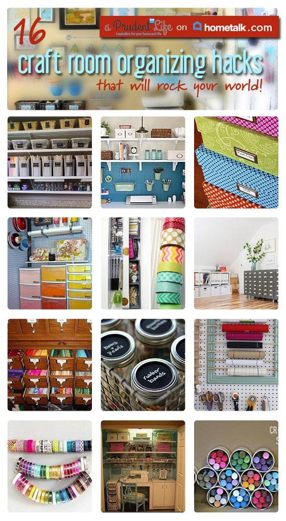 Craft Room Organizing Round Up