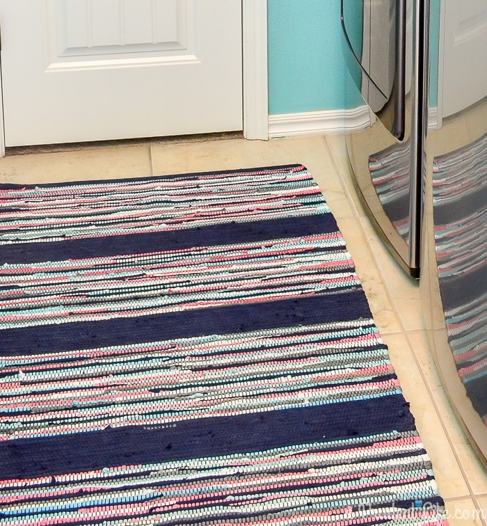 This Target rug was the inspiration for a full laundry room makeover. Click to see the reveal!