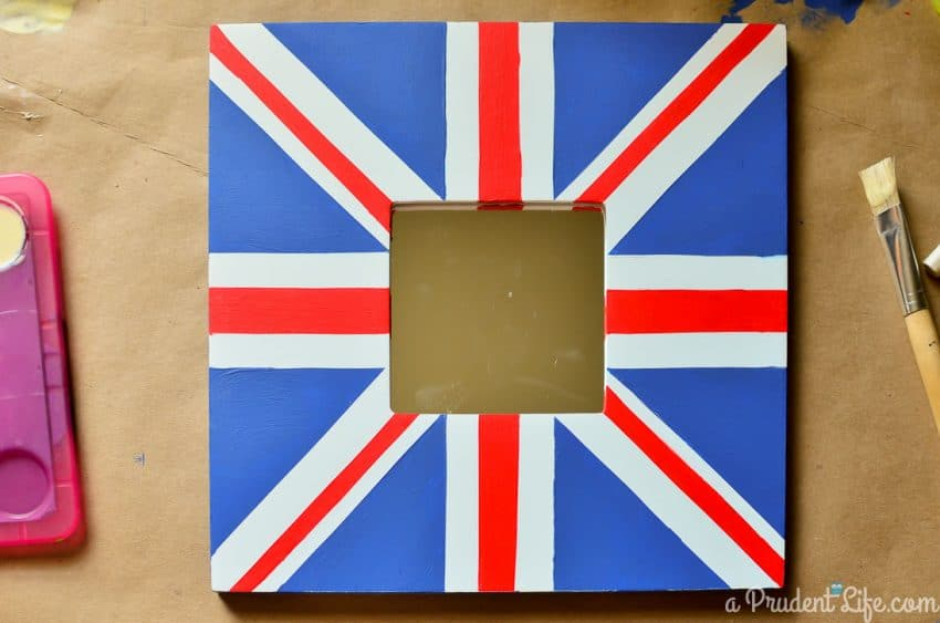 Anthropologie inspired Union Jack IKEA MALMA hack